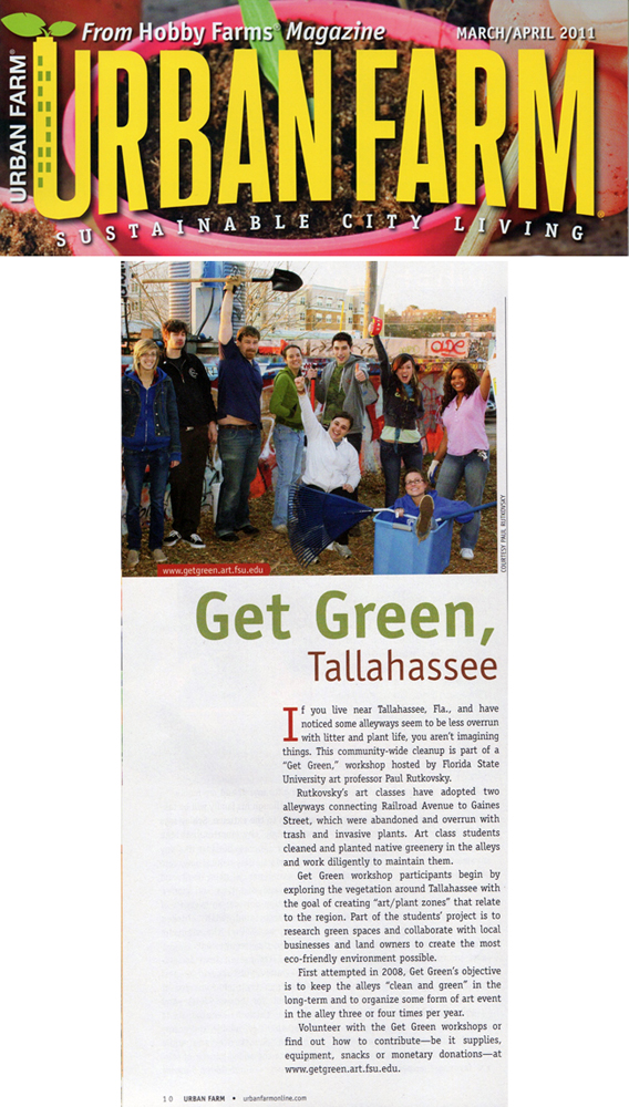 Department of Art's Get Green Alley's featured in Urban Farm