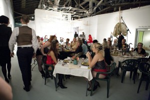 Art for Dinner held at the 621 Gallery