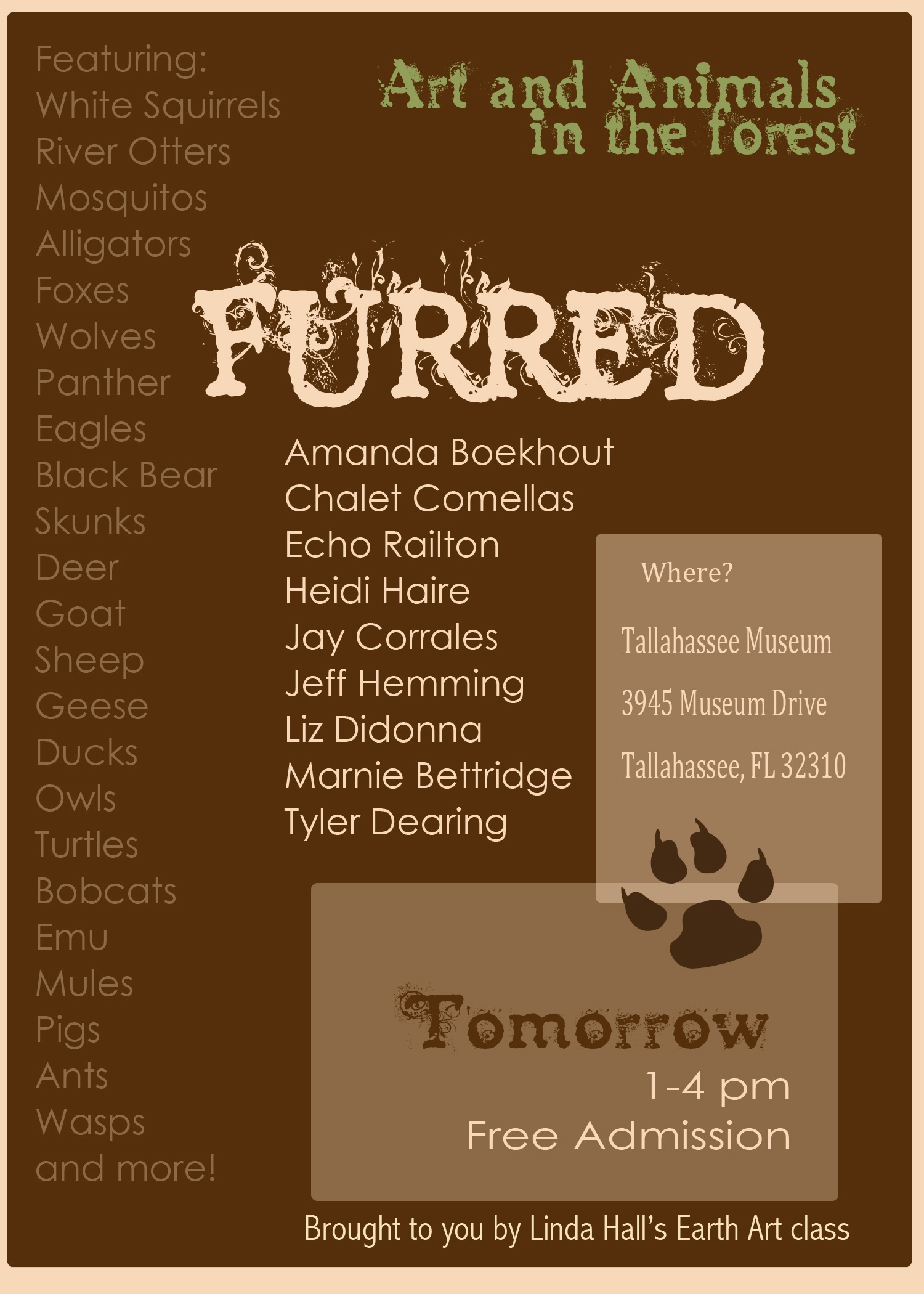 Furred or Furless Exhibition flyer