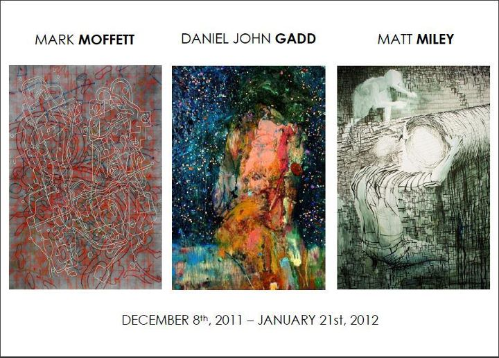 Exhibit with Matt Miley, Daniel John Gadd, and Mark Moffett. Dates: December 8th 2011 to January 21st 2012