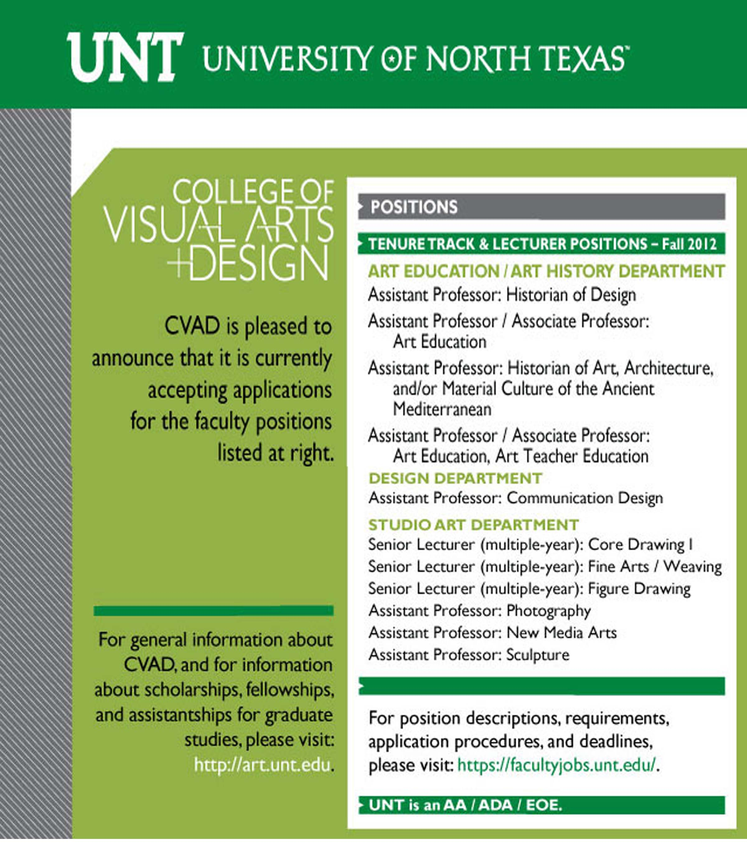 University of North Texas flyer
