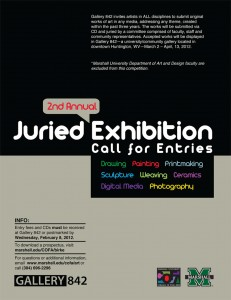 Gallery 842's 2nd Annual Juried Exhibition