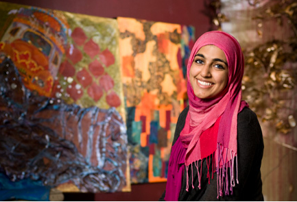 Marium Rana - Student combines passion for painting with service