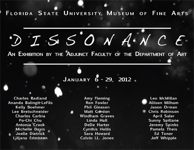 Dissonance Exhibition Flyer