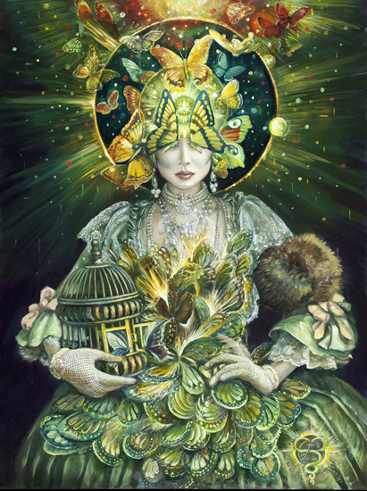 Carrie Ann Baade, The Butterfly Lovers, 2012, 18 x 24 inches, oil on panel