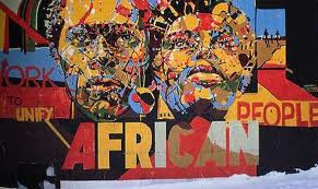 African inspired mural