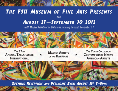 The 27th Tallahassee International Opens 8/31, 5-8 pm