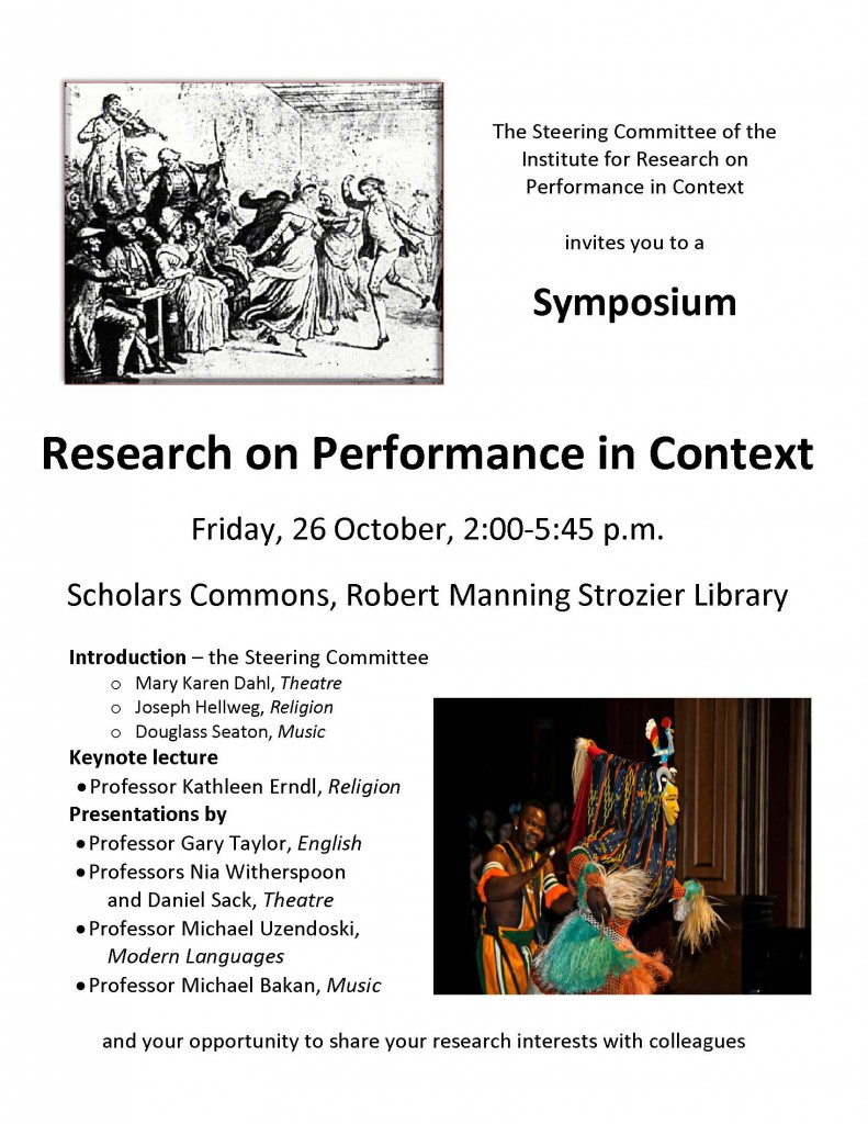 FSU's Institute for Research on Performance in Context Hosts Symposium