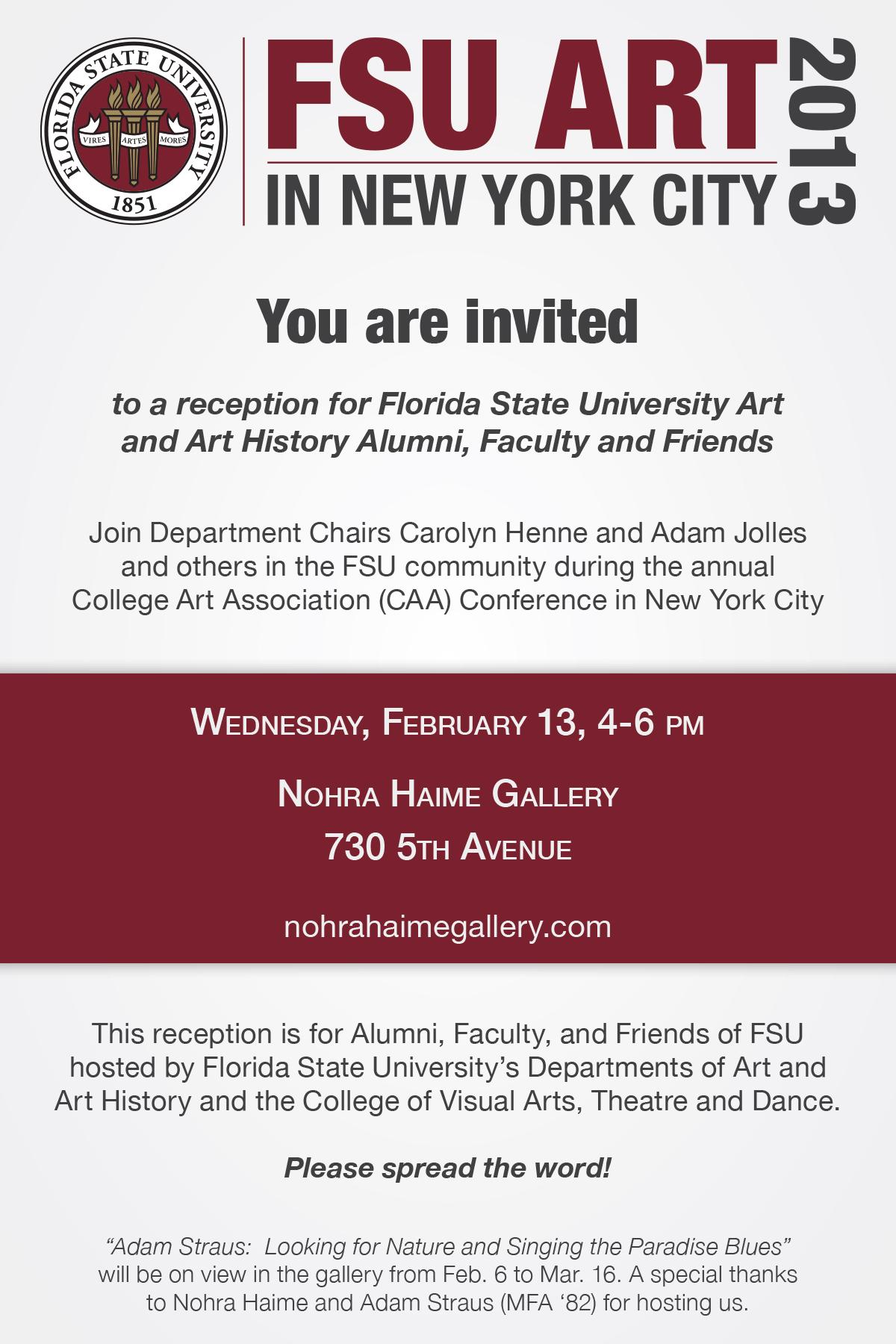 FSU NY CAA-Invite