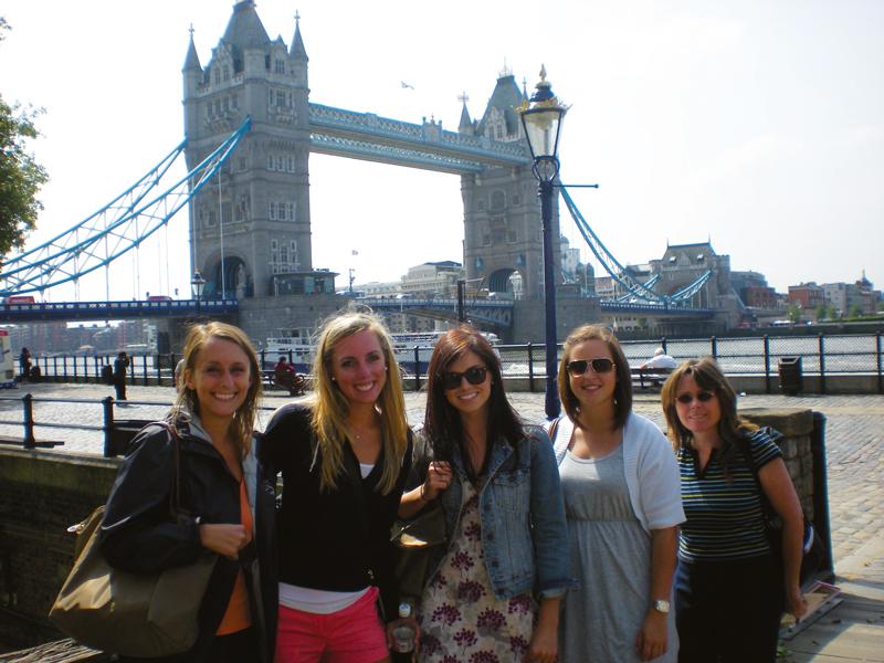 Group of girls at bridge