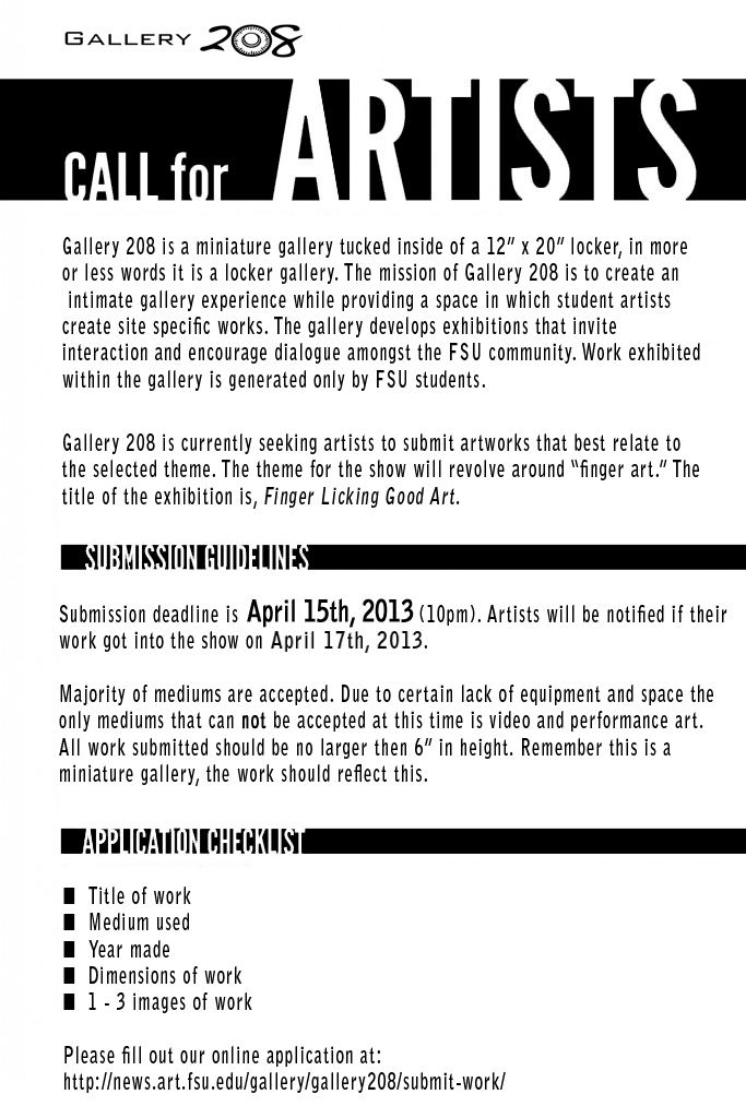 208 Call-for-Artists Transparency