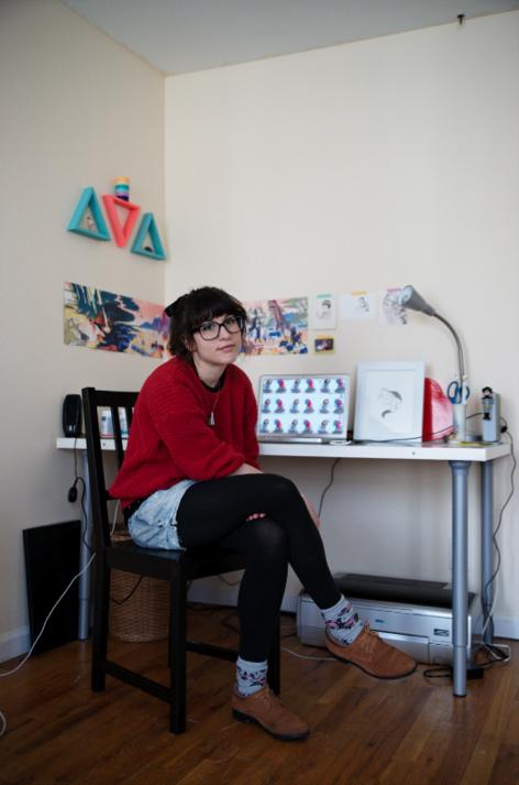 Julia in her studio