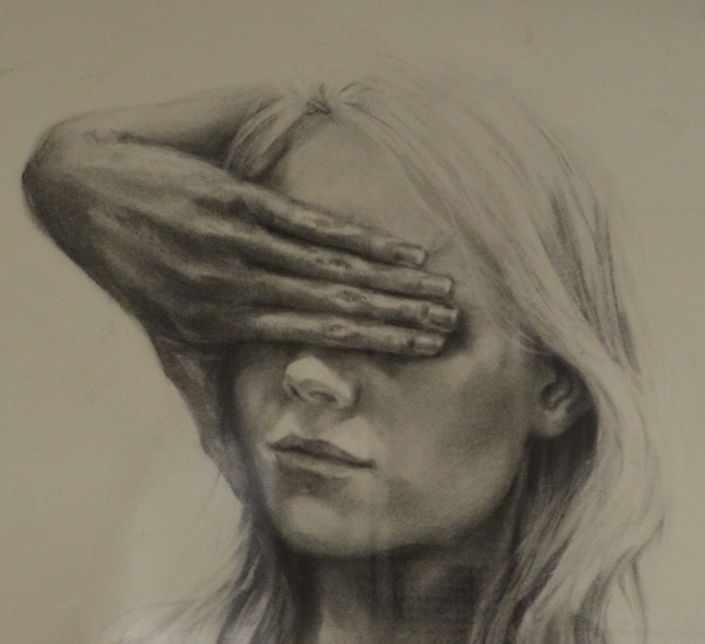 Ljiljiana Edmiston's Drawing Foundations – Self Portrait with a Twist Students were tasked with creating a drawing that is influenced by their chosen artist and inserting themselves within the image or use the artist as an inspiration for their self portrait.