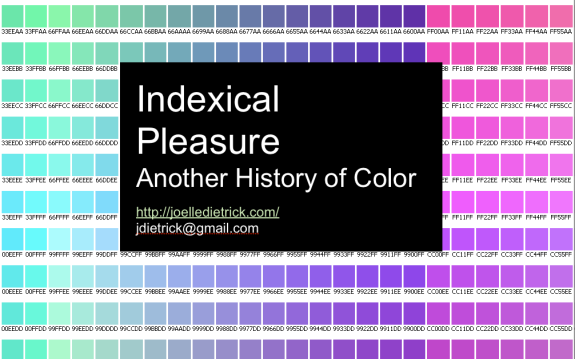FSU Faculty Joelle Dietrick Presents Indexical Pleasure at FATE