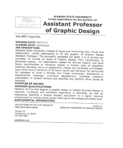 ASU Assistant Prof GD