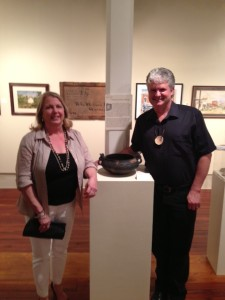 Dawn McMillan and Robin Rodgers at the opening on 5/10/2013.