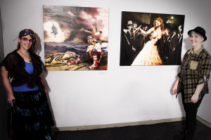 MANDEM (M. Arendsee with partner Moco) with selected works at the Artists' League exhibit (June, 2013)