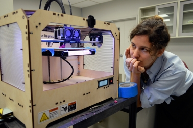 FAR staff welcomed Gorham with a mini 3D printing workshop