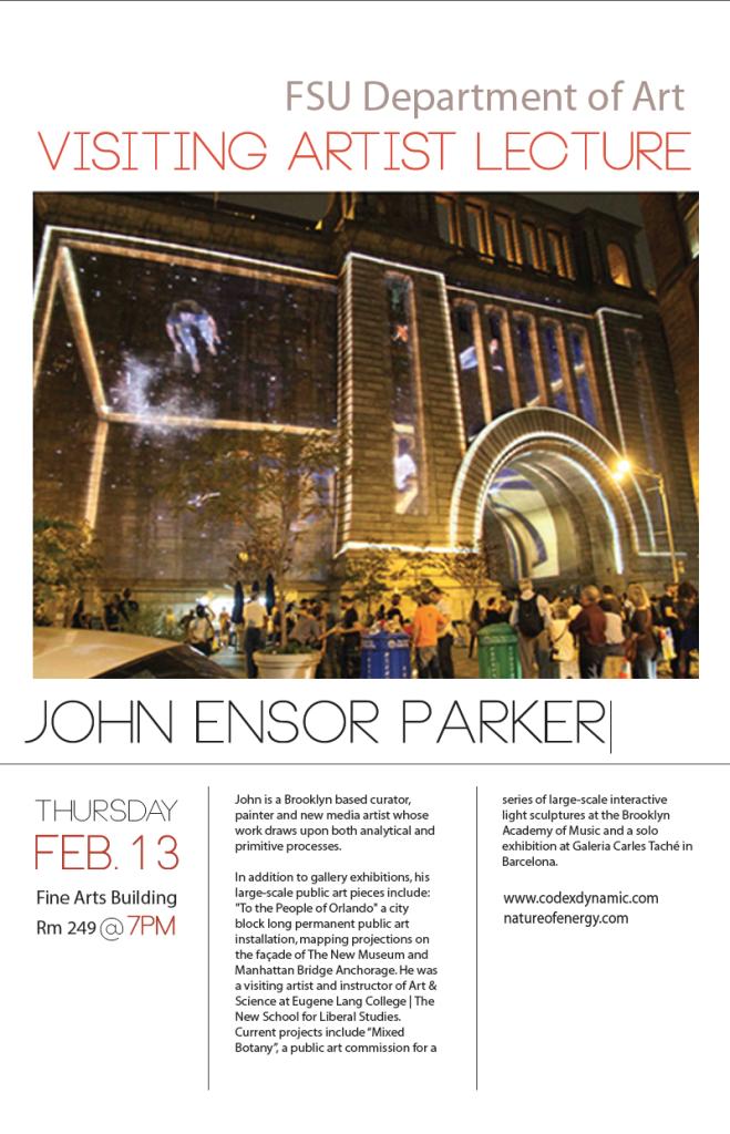 Visiting Artist Lecture: John Ensor Parker