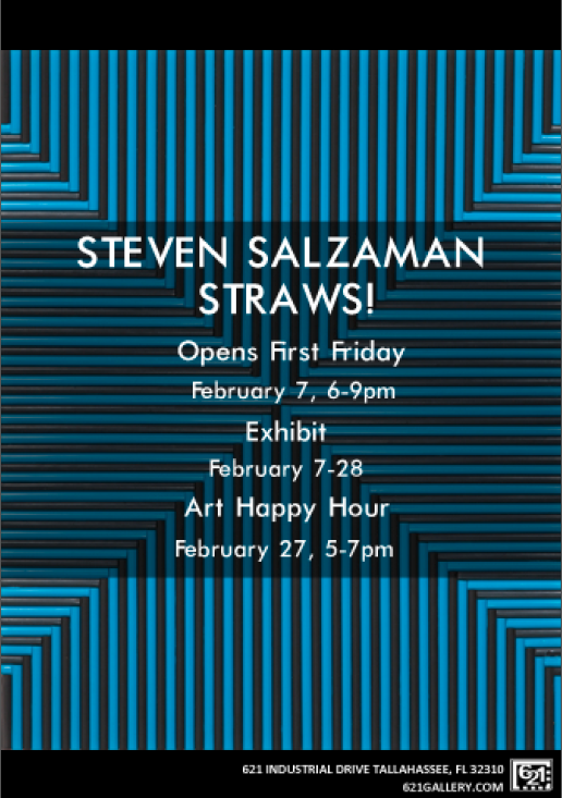 Steven Salzaman's Exhibition Poster from February's First Friday