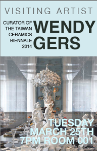 Visiting Artist Lecture: Wendy Gers - Tuesday, 3/25, 7 pm