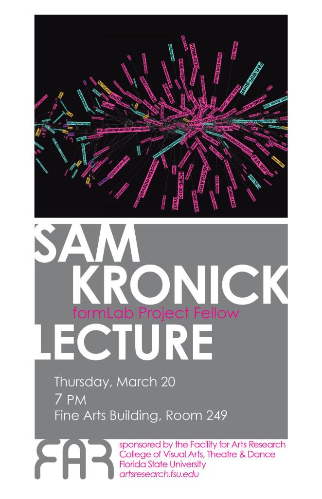 Sam Kronick Lecture