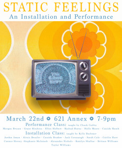 FSU Art Students: Static Feelings, a Performance and Installation at the 621 Annex
