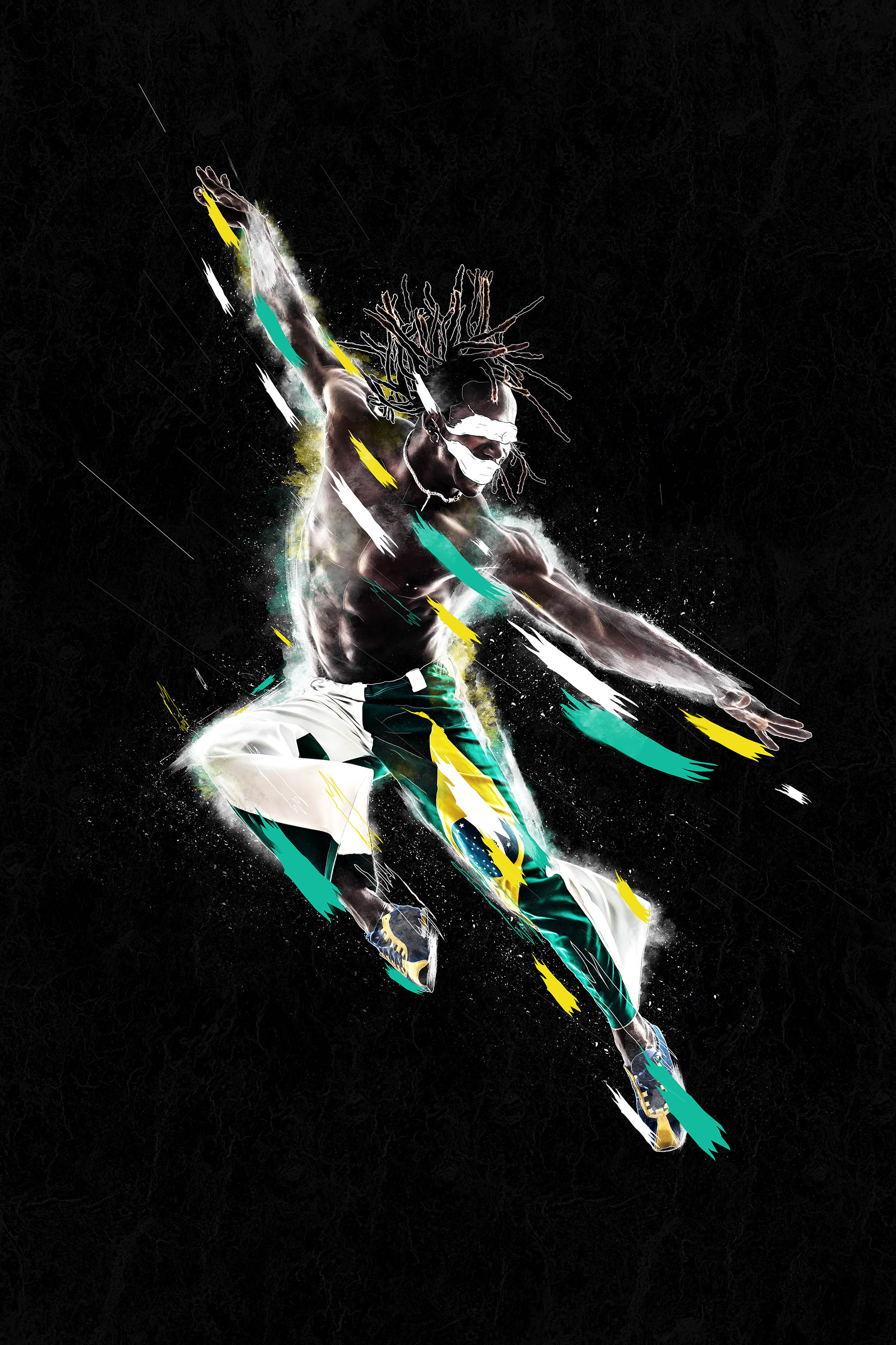"""Envy"" Digital image of a Man jumping in the air"