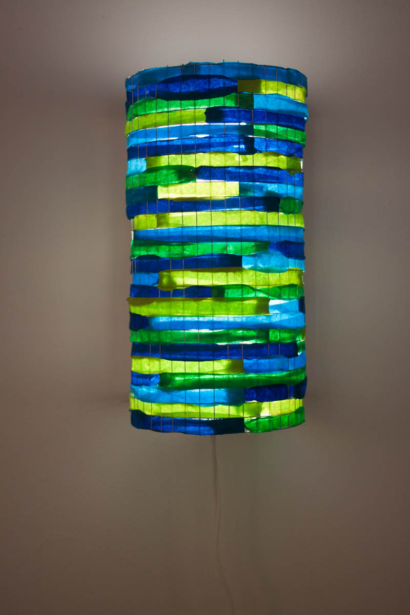 Blue and green Lighting fixture