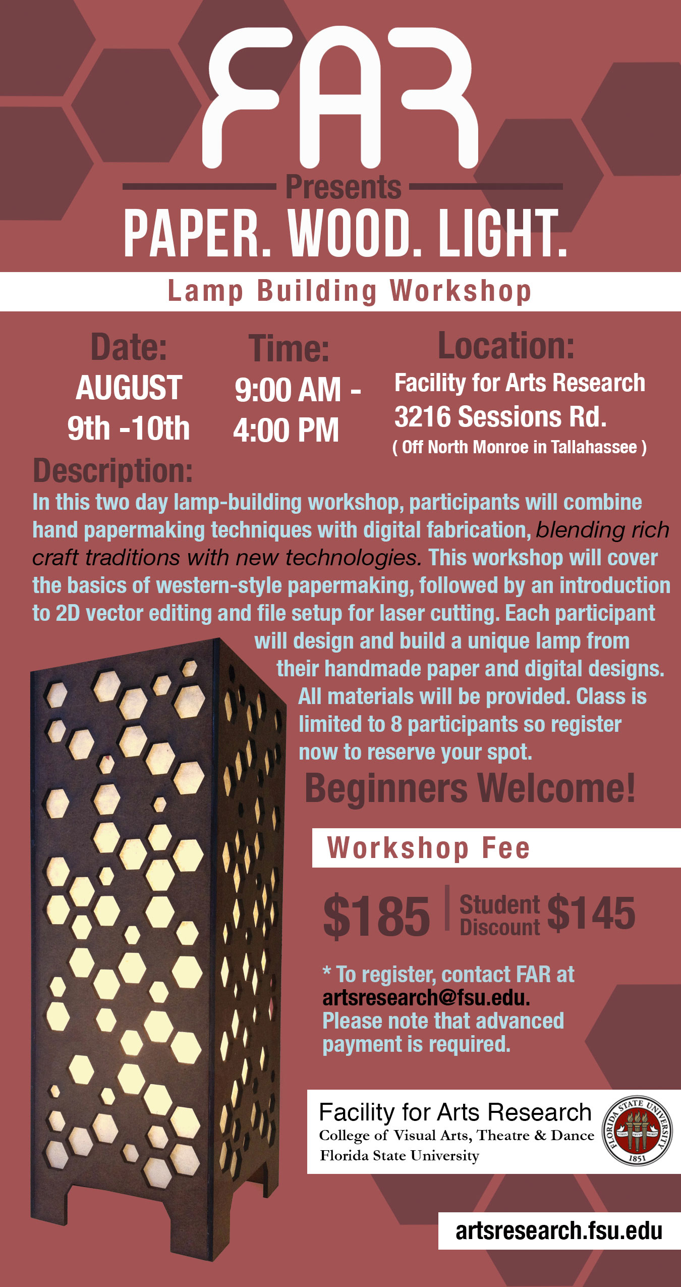 Facility for Arts Research Lamp-building Workshop