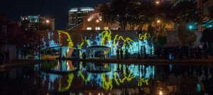 Bridge of Signs, InLight 2013, photo by Terry Brown