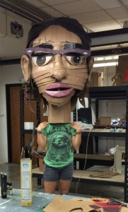 one of the cardboard candidates in a state that is near completion