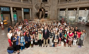 2014 SI summer interns with Smithsonian Secretary Dr. G. Wayne Clough
