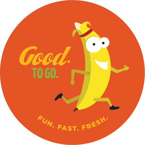 1 of 5 sticker designs for healthy snacking campaign