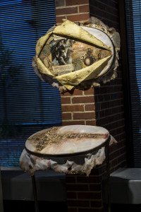 """MANDEM's """"Equivalent Exchange"""" (assemblage/encaustic) was accepted for the 2014 PINNACLE National Juried Art Competition"""