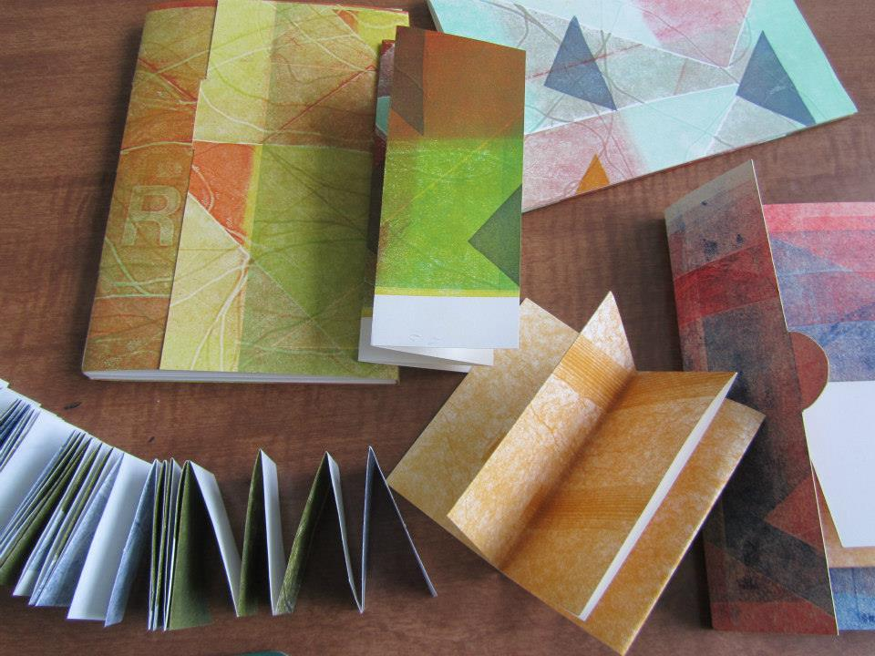 Small Structures, Printed Layers bookbinding and letterpress