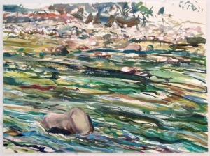 """from the Watercolor Water Flows series (22"""" x 30"""") 2013"""