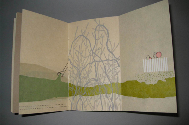 Small Structures, Printed Layers bookbinding and letterpress printing example 2