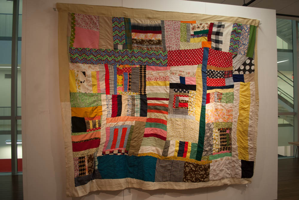 Photo of colorful quilt