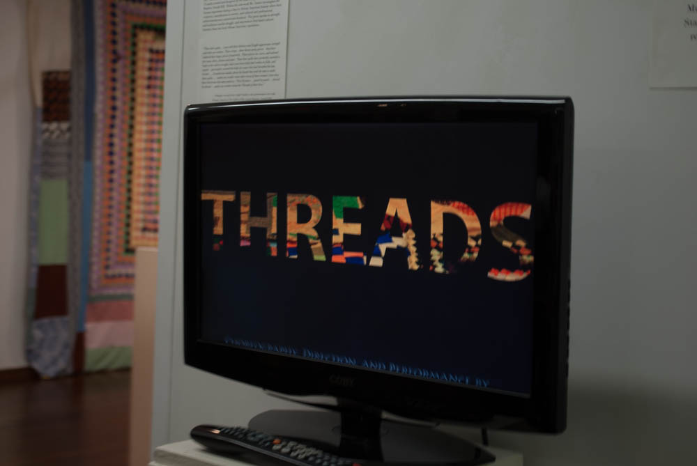 television with Threads on the screen