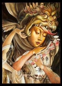 """Shakti,"" a work by Carrie Ann Baade showing at POP Femme Sugar Coated Strange (Santa Fe, NM)"