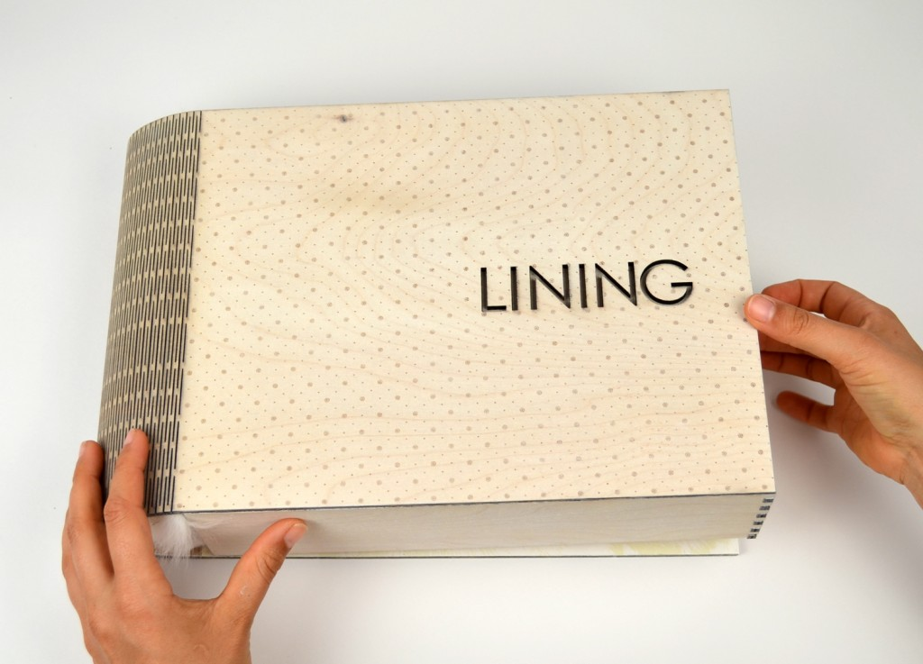 "Book with words ""lining"""