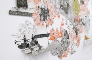 """Laura Tannere in Art on Paper 2014: The 43rd Exhibition """"Bountiful Lady"""""""