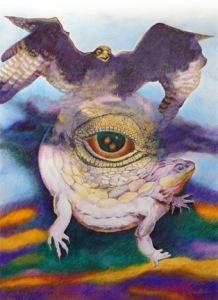 Kyra Belan the Eye of Power II draw 30x22