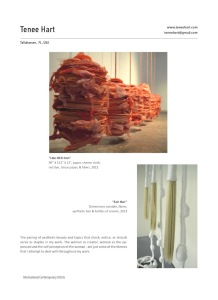 "Tenee' Hart's work published in ""International Contemporary Artists"" art book, Volume IX"
