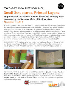TWO-DAY BOOK ARTS WORKSHOP: Small Structures, Printed Layers