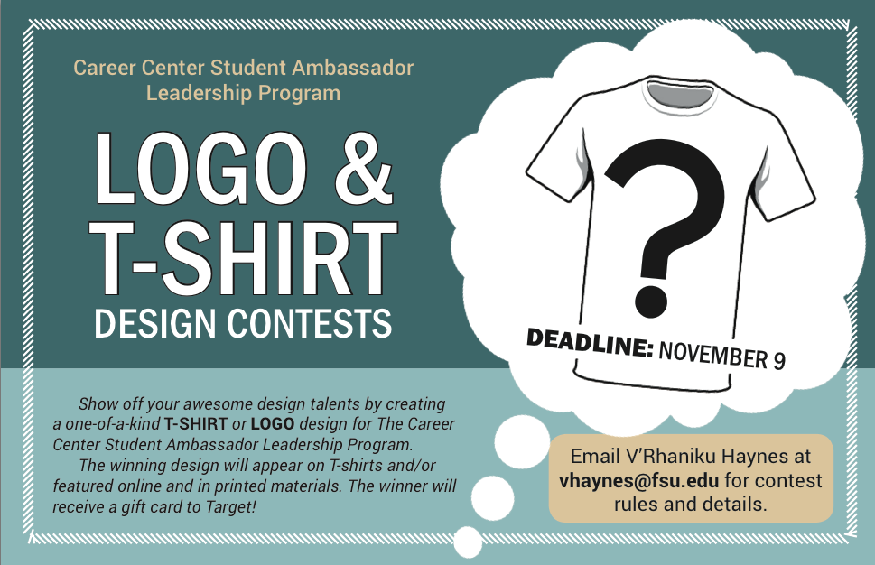Logo and t-shirt design competition flyer