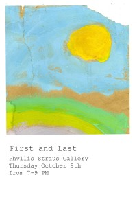 Phyllis Straus Gallery: First and Last BFA October Show, 10/9, 7-9pm