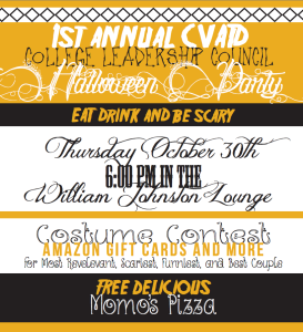 Halloween Gathering, October Event Hosted by the College Leadership Council