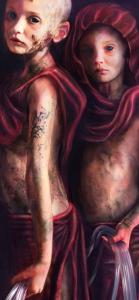 "A detail from MANDEM's award-winning ""The Trials of St. Sebastian: Cypress."""